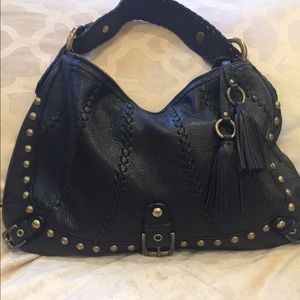 Isabella Fiore Bags - Isabella Fiore Black Leather Hobo/Shoulder Bag